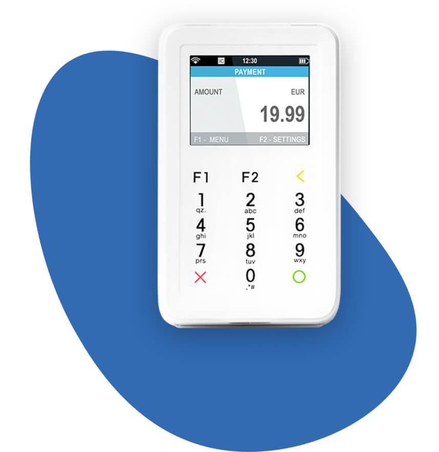 Kartenbezahlterminal-Mobil-Stationär-Weiss