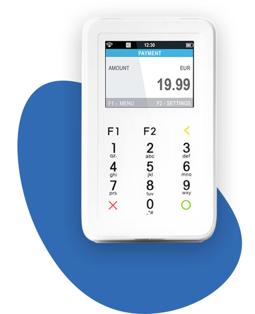 Kartenzahlung-Kartenterminal-Mini-Handlich