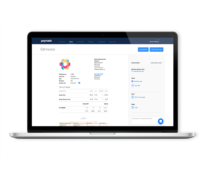 Create invoices and offerings