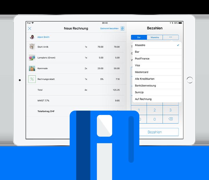 iPad Kassensystem Kartenterminal