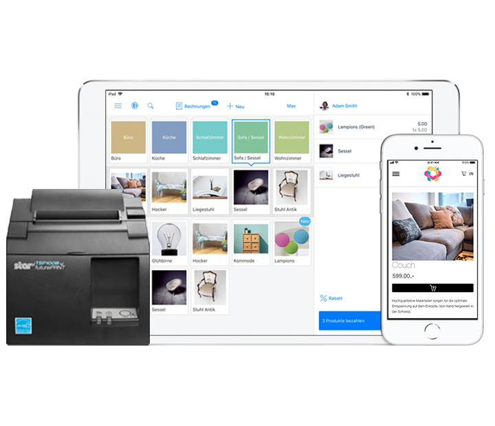 iPad Kasse und POS Printer